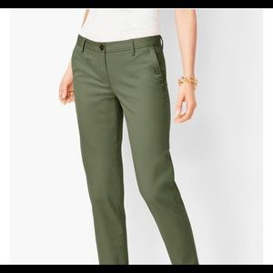 Women's J Crew army green stretch chino pant/Size8